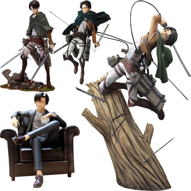 Attacco anime su Titan Artfx J Levi Rinnovamento PVC Action Figure Giocattoli Giappone Anime figura Statua Modello Giocattoli Giocattoli da collezione Regalo X0503