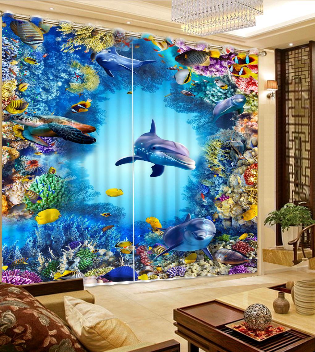 Пользовательские красивые 3d занавески спальня гостиная окна занавес занавес