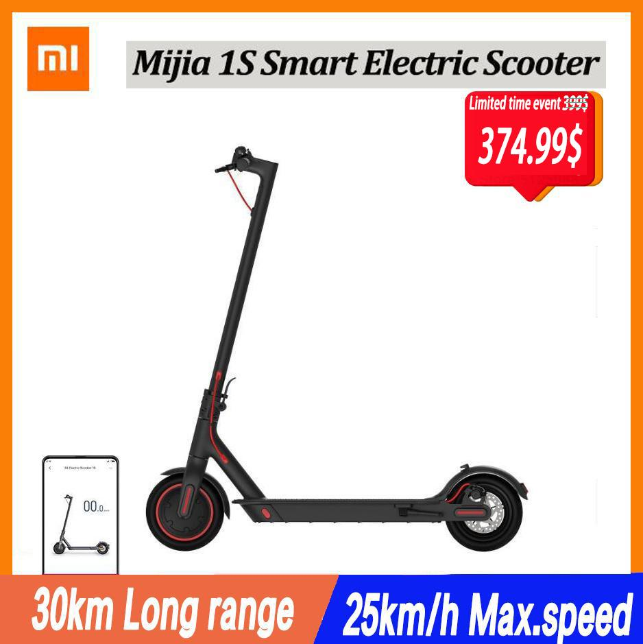 Xiaomi Mijia Electric Scooter 1S Mini Smart Foldable Longboard Adult 30km Battery 250W Motor