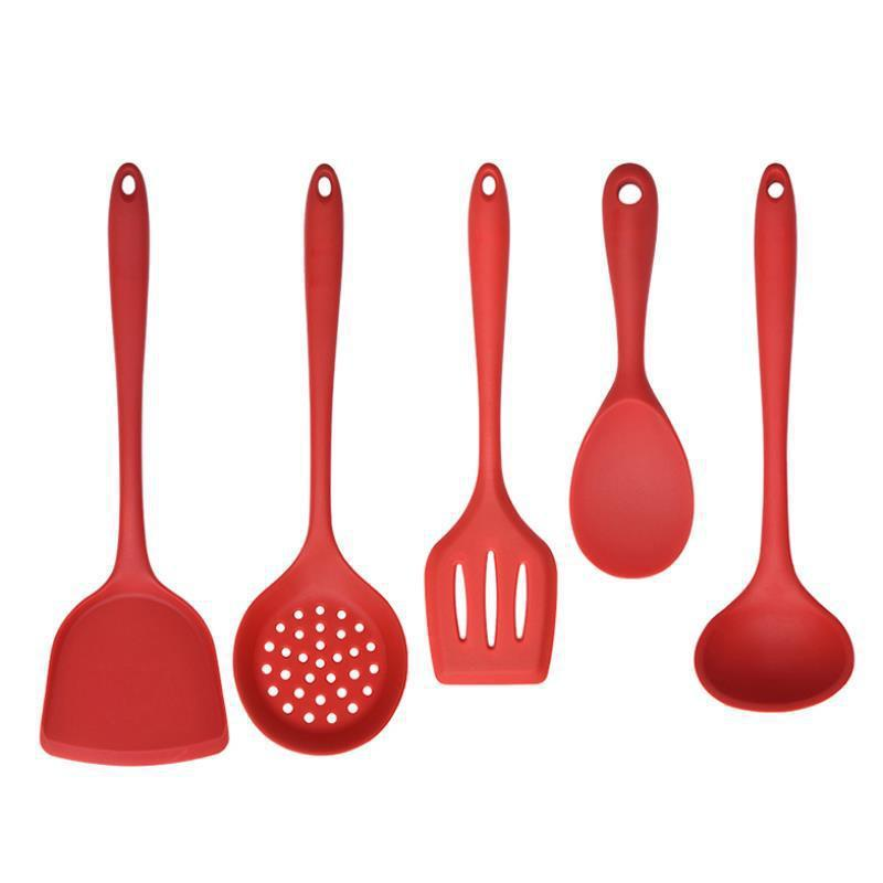 2021 5pcs/set Food-grade silicone kitchenware non-stick spatula rice scoop household cooking utensils backing tools