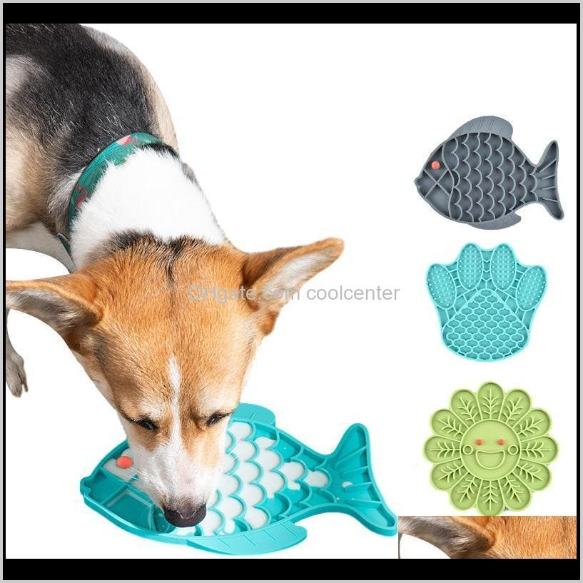 Tigelas Alimentadores Suprimentos Home Jardim Drop entrega 2021 Sile Pet Lamber Dog Bacia de Alimentação para Distração Alimentador Lento Tratar Dispensando Mat Atosso