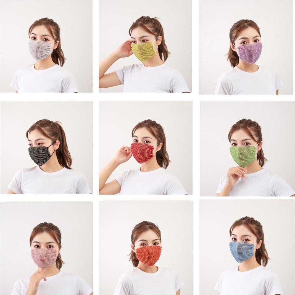 Maschere del viso della moda Bling Bling Maschere della faccia delle donne Maschera di Halloween Maschera delle paillettes Maschera con le maschere del rhinestone Trendy Strass FaceMask
