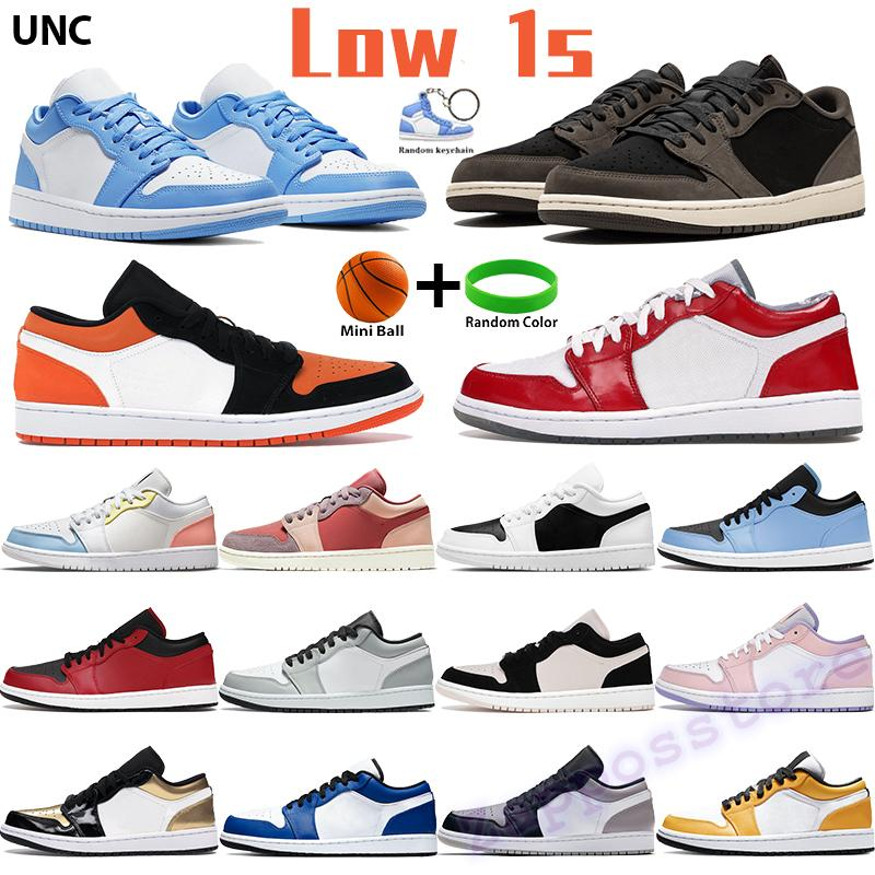 Low 1 basketball shoes 1s mens sports sneakers shadow grey black sail hyper royal black toe top3 UNC chicago trainers