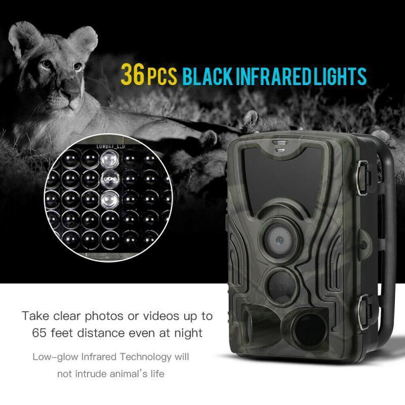 Skatolly 사냥 트레일 카메라 HC801A IP65 PO 트랩 0.3s 트리거 시간 940nm 1080P 방수 SMS / MMS 와일드 카메라