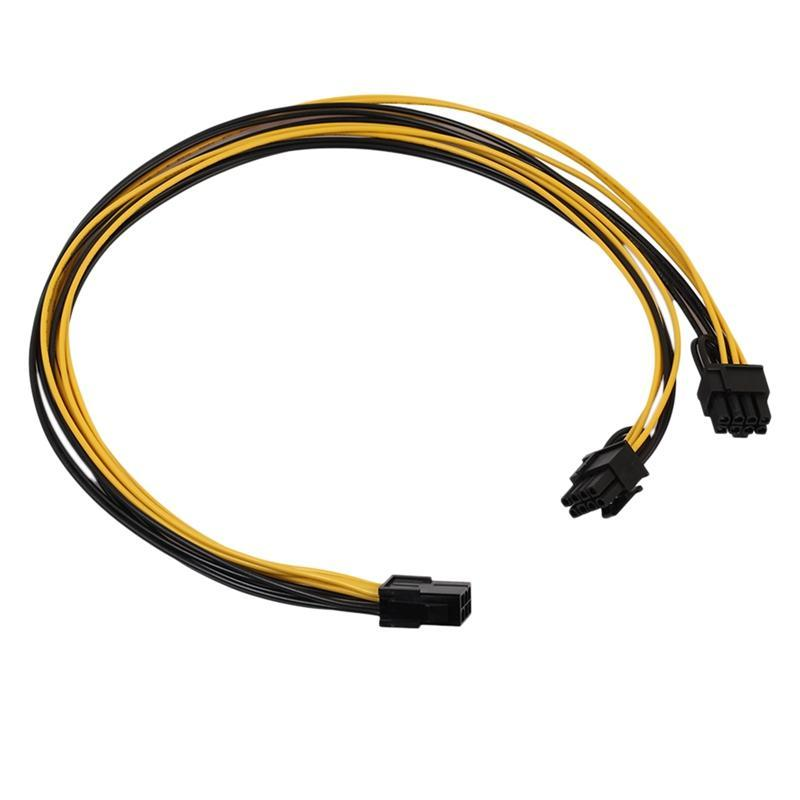 PCI-E PCI EXPRESS 6PIN женщина к двойным 2-портовым 8PIN (6 + 2PIN) Мужчина F / M Adapter GPU Видеокарта Шнур питания 18awg 20см Компьютерные кабели подключаются