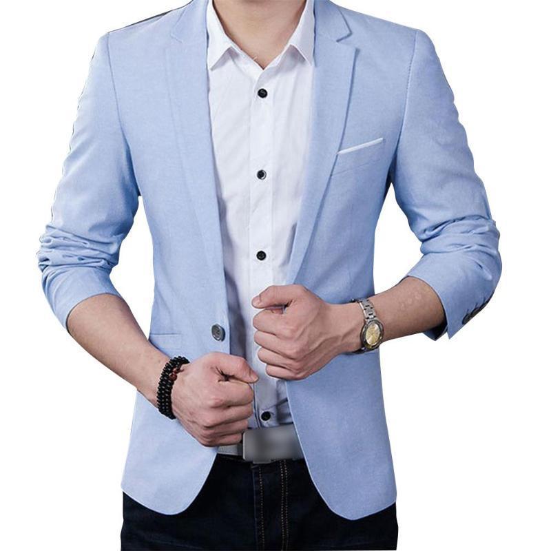 Abiti da uomo Blazer Zacoo Uomo Casual Giacca Business Business ONE Pulsante Slim Fit Vestito Cappotto Alla moda