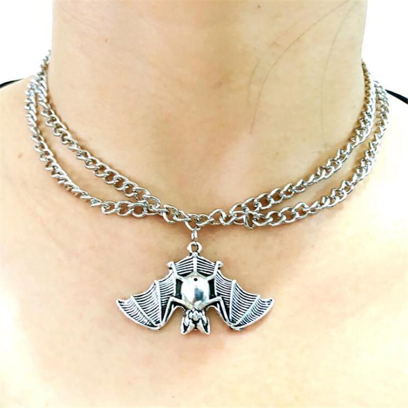 سلسلة الخفافيش الأخطبوط قلادة قلادة للنساء فاسق مجوهرات الأزياء الإكسسوارات خمر سبيكة هدية متعدد الطبقات رقبة سلاسل