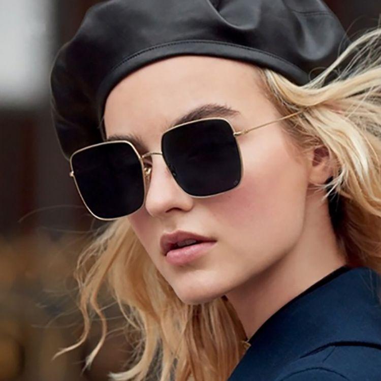 2020 New Fashion Overseized Square Sunglasses Sung Scheny Designer Vintage Gradient Azul Rosa Gafas de sol para Mujeres Hombres Eyewear