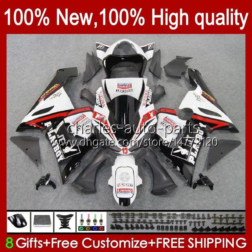 Moto Body voor Kawasaki Ninja OEM ZX600C ZX636 ZX 6R 6 R 600CC 05-06 Bodyworks 7NO.21 ZX600 ZX 636 ZX-6R 2005 2006 ZX-600 ZX-636 600 CC ZX6R 05 06 ABS-kuipakket Rood wit