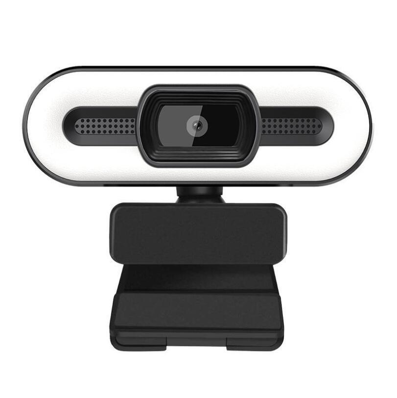 2K 1080P Full HD Webcam With Fill Light 3.0 Auto Focus Camera PC Computer for Live Broadcast Video Calling Conference