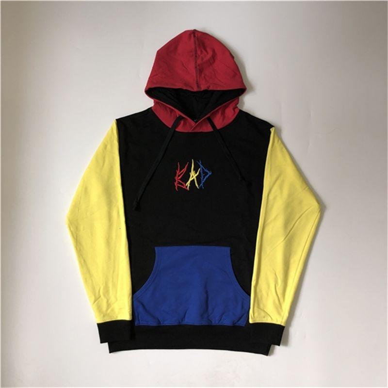 Erkek Tasarımcı Hoodies Dikiş Renk İntikamı Kötü Hoodie XXXTentacion Yüksek Sokak Moda Marka Gevşek Kazak S-XL