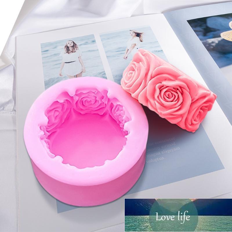 라운드 로즈 꽃 모양 실리콘 비누 금형 DIY 수제 금형 퐁당 케이크 촛불 공예 장식 도구 만들기