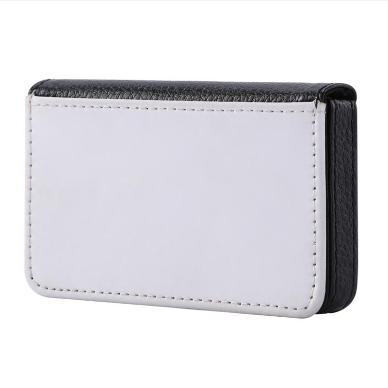 PU Leather card box blank sublimation print name card case customize print your logo 100 pieces/lot