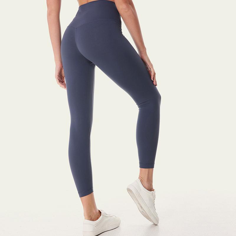 Nahtlose Legging Womens Yoga Hosen mit versteckter Tasche Gerade Lounge Running Workout Hohe Taille für Fitnessstudio Outfit