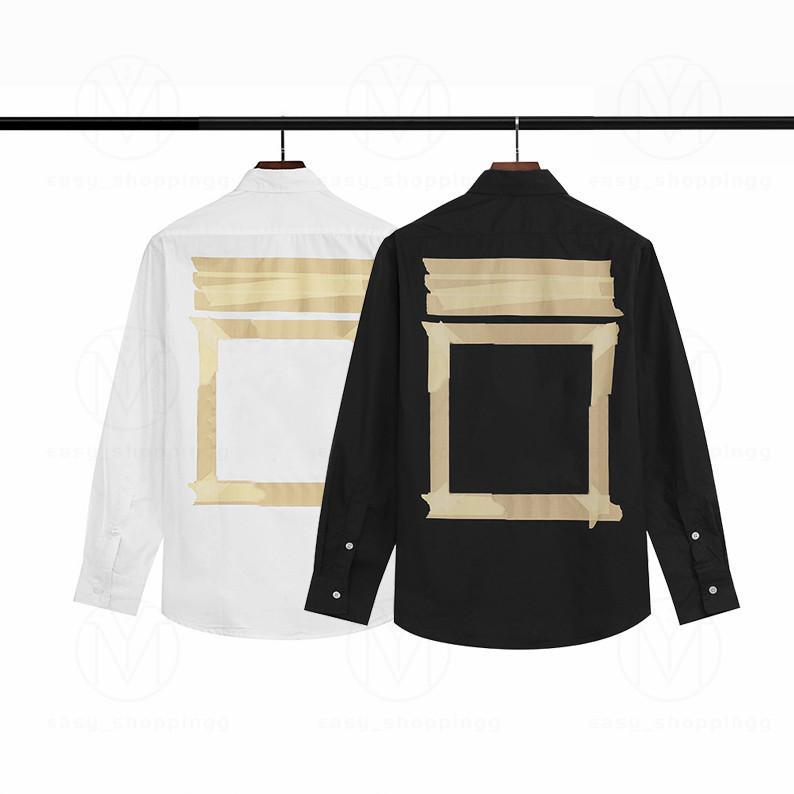 Erkek Kadın Tasarımcılar Gömlek Moda Rahat Erkekler Slim Fit Şerit Bayan Adam S Lüks Katı Renk Elbise Gömlek