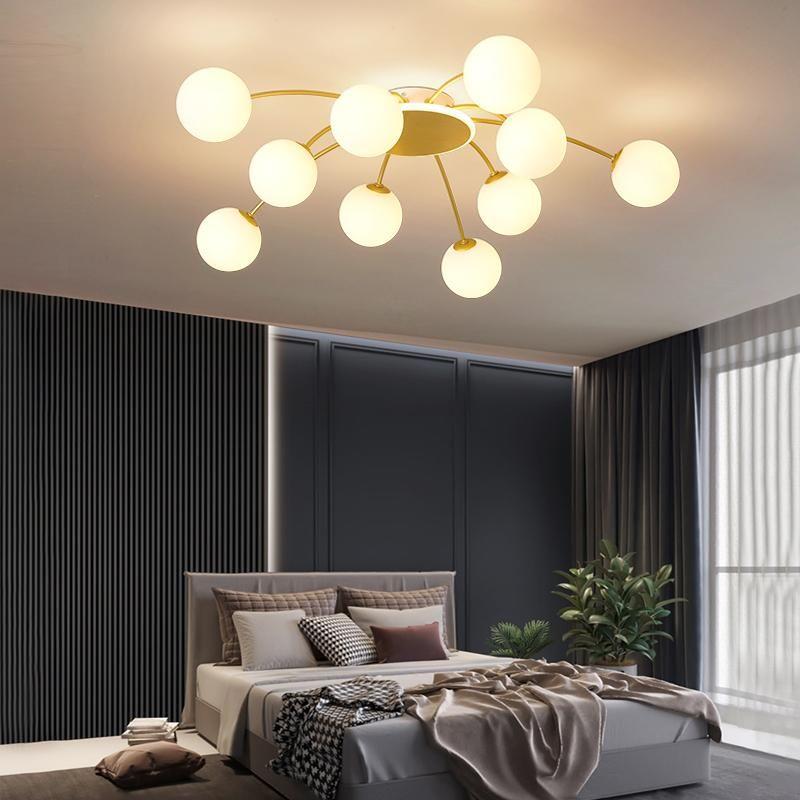Nordic Modern LED Kronleuchter Beleuchtung Bündelhalterung Licht Wohnzimmer Schlafzimmer Küche Glas Bubble Lampenvorrichtungen Kronleuchter