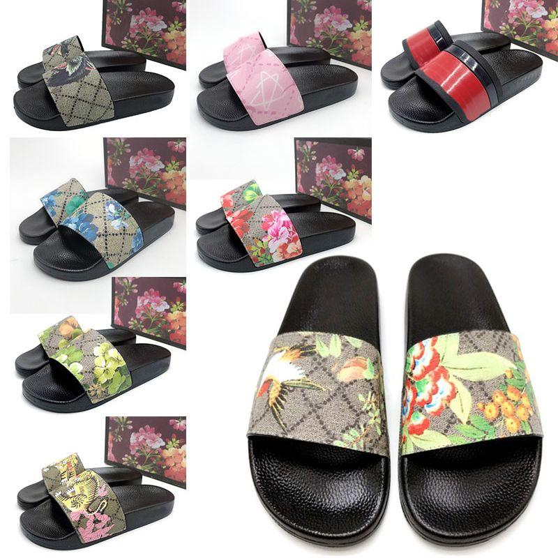 Con scatola Top Quality Moda Donna Uomo Pantofole ACE Designer Slides Vintage Flat Rubber Beach Shoes Sandali Luxurys Designers Flip Flop Slipper Slide