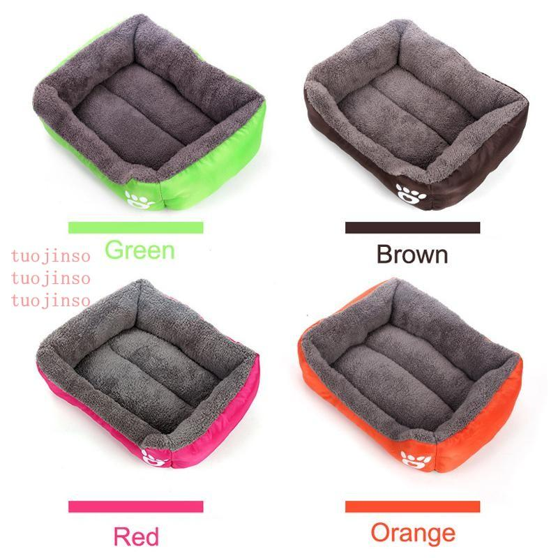 Soft Warm Fleece Pet Puppy Cat Dog Bed Puppy Dog Cat Kitten Pet Bed Pad Cushion Basket Sofa Couch Mat 6 Colors 4 Size DH0314