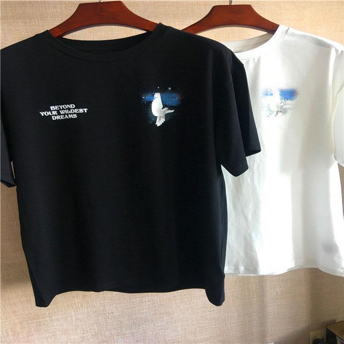 Son Listin Erkekler T Gömlek Tasarımcı Baskı Mektup Erkek Kadın Kısa Kollu Pamuk Yuvarlak Boyun Nefes Stilist Trendy Giyim Boyutu XS-3XL
