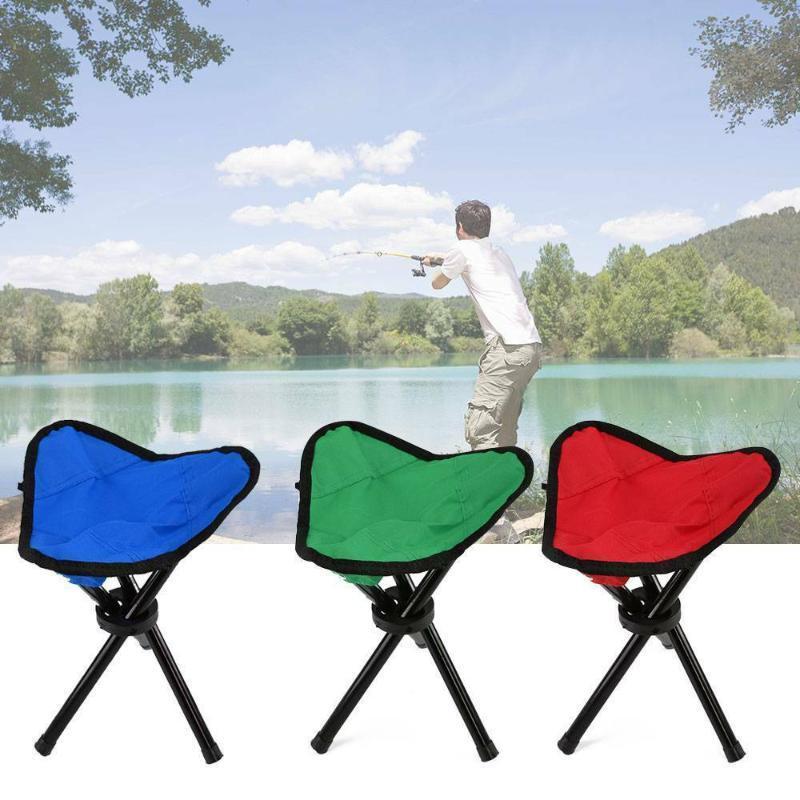 Lagermöbel im Freien Angelstuhl Tragbarer Stativhocker Falten Camping Walking Picknick Garten Faltbare Drei Fuß Strandstühle