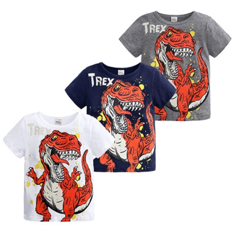 Children Boys Girls Clothing Toddler Kids Long Sleeves T-shirts For Girls Boys Tops Tees Baby Dinosaur T Shirt Casual Clothes 962 Y2