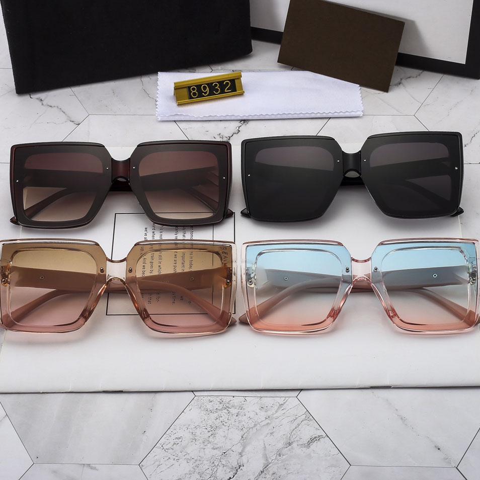 موديش نظارات إمرأة نظارات شمسية شفافة للنساء نظارات شمسية ظلال نظارات مضادة للوهج العدسات الوردي الأسود إطارات كبيرة