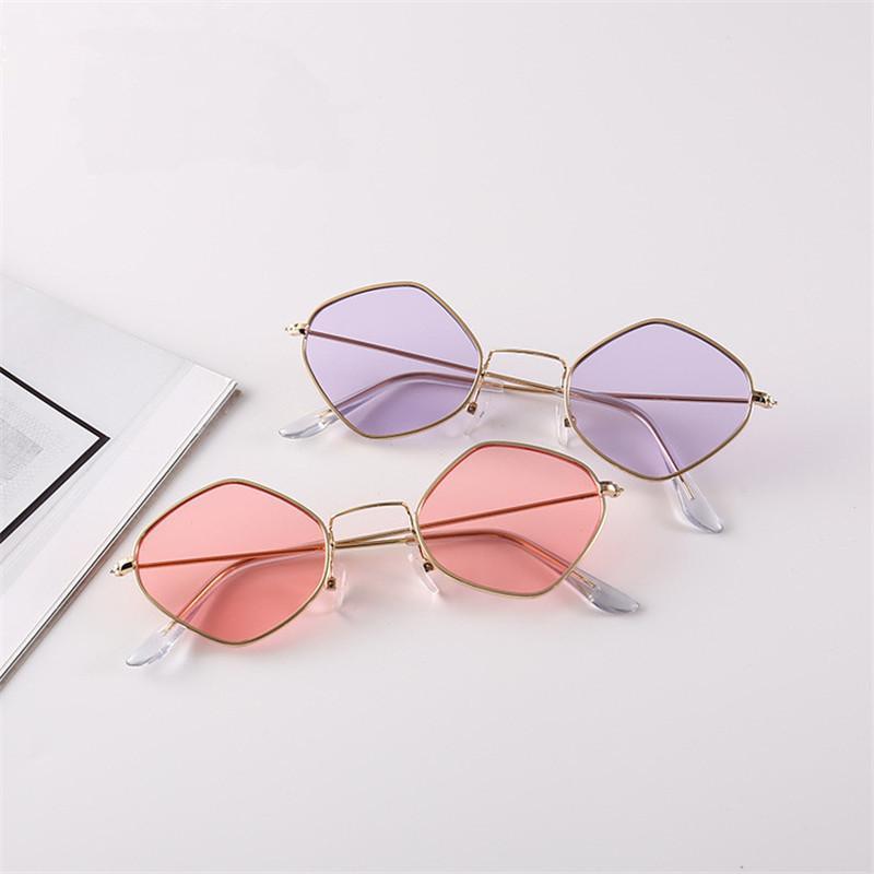 Sonnenbrille 2021 Sexy Mode Polygon Frauen Marke Designer Vintage Klare Sonnenbrille Paar Eyewear UV400