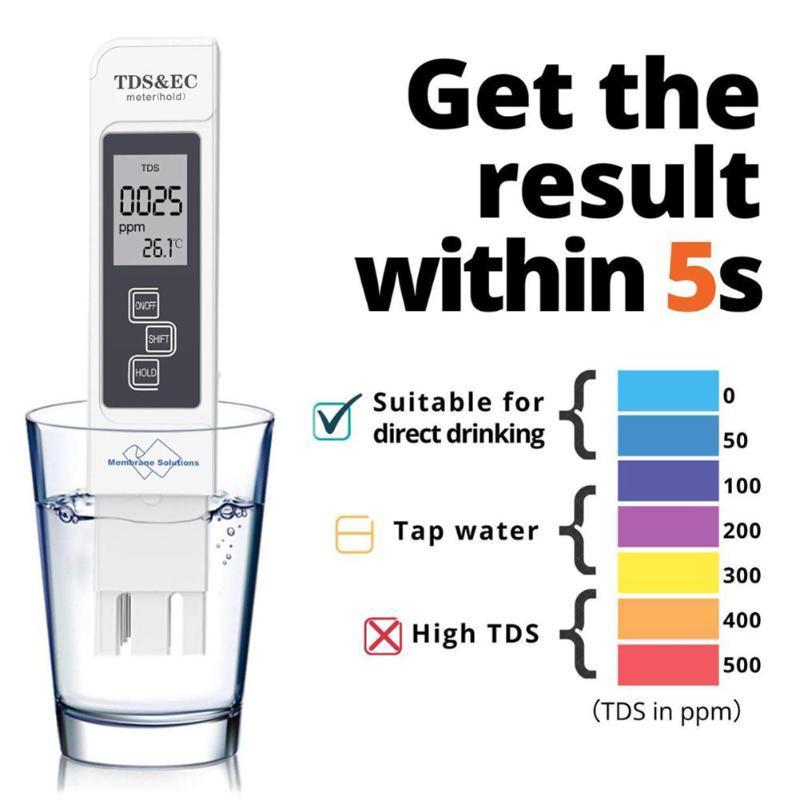 Medidores Digital PH METER TDS TDS TESTER EC TEMP Detector Calidad de agua Monitor de la prueba Pureza