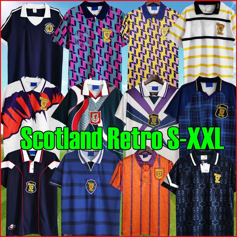 Scotland Retro Top Soccer Jerseys 1978 1988 89 91 1992 93 94 96 98 2000 خمر كرة القدم كيت قميص شمال أيرلندا 1990 أطقم 88 90 92 أيرلندا زي كلاسيك