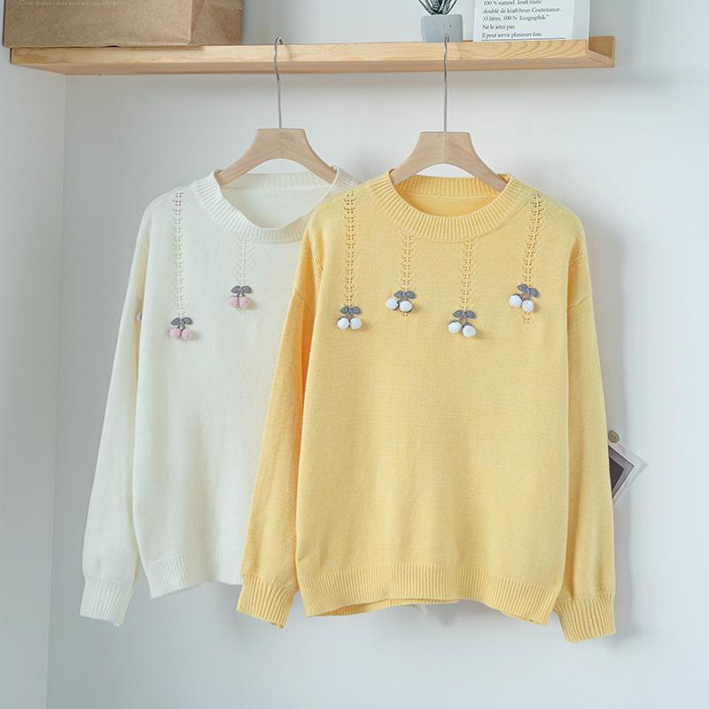 Frauenpullover 2021 Herbst Winter Dicke Pullover Frauen Japaner gestrickte Pullover Langarm Oansatz Slim Pullover Weiche Warm Pull Femme