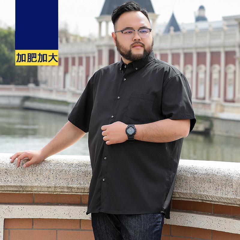 Summer Men Dress Shirt Short Sleeve Plus Size Big 8XL Wedding 9XL 10XL 12XL Formal Office Shirts Business Navy Blue Purple Men's