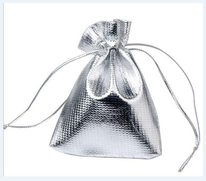 100 stks / partij zilveren kleur sieraden verpakking display pouches tassen voor vrouwen diy mode cadeau craft w35