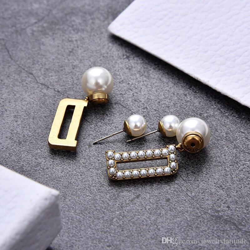 Designer di lusso Gioielli Donne Orecchini per perle Borchie di fascino Perla Lettera Elegante Lettera D Bracciali per orecchini Collane Collane Suits Fashion New Style
