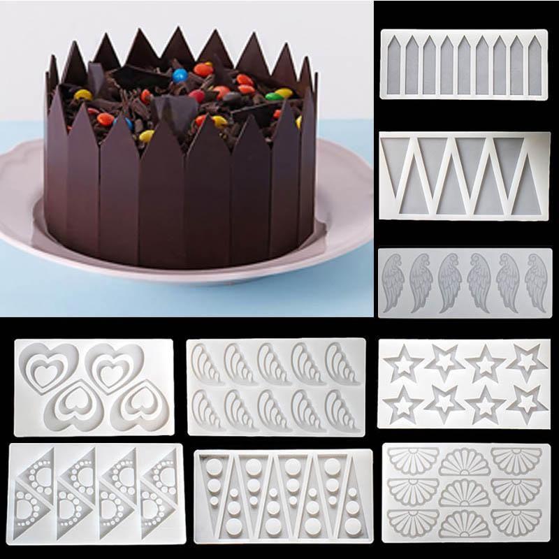 1 قطع الحدود الاستنسل سيليكون قالب الكعكة السكر الحرفية قوالب فندان العفن أدوات الخبز ل الكعك عيد الاكسسوارات قوالب
