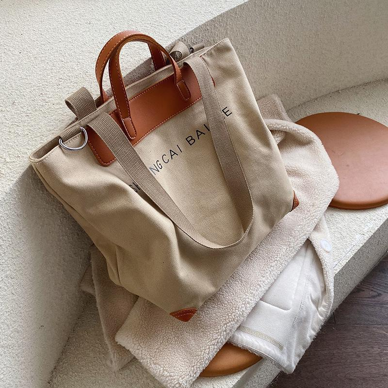 Evening Bags Casuais Casuais Das Mulheres Ombro Designer Letras Crossbody Feminino Grande Capacidade Totes De Couro Patchwork Shopper Bolsa