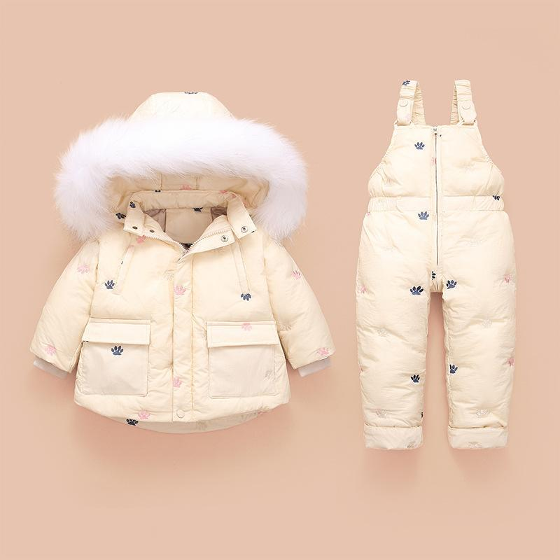 Kleidung Sets Baby Set Russian Winter Kleinkind Daunenjacke Anzug Mädchen Mantel Jumpsuits Kinder Schneeanzug Kind Kleidung Jungen Overalls 1-3