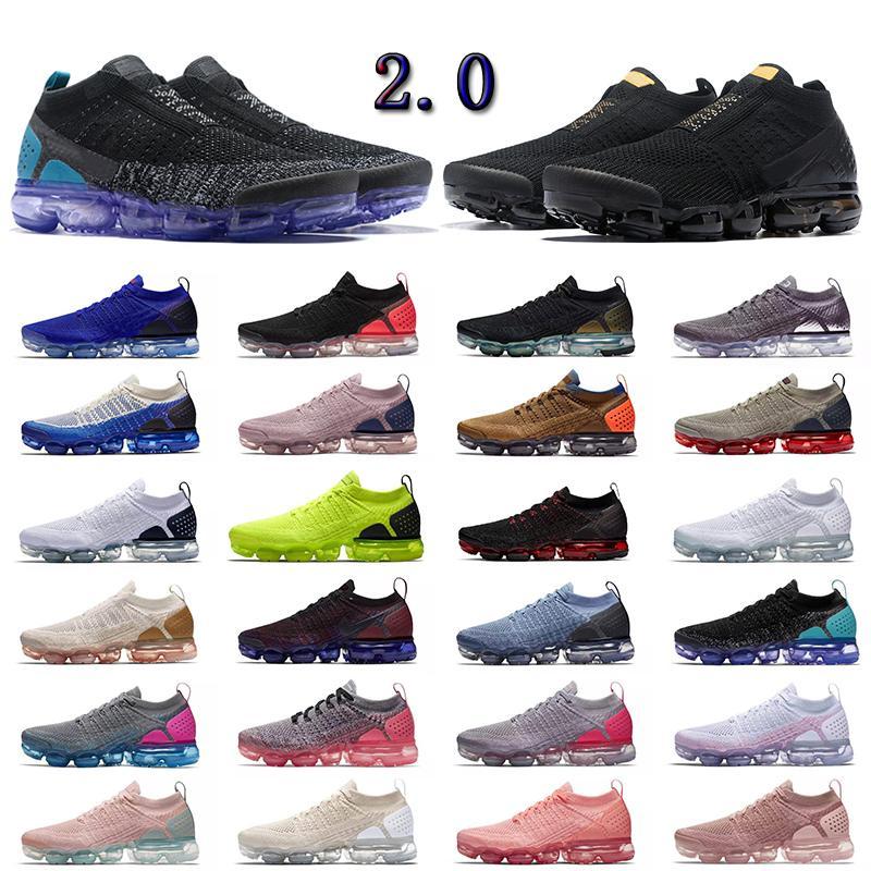 Çok renkli Vomaxpor Mens Womens Ayakkabı Örgü Hiçbir Kademeli Üçlü Siyah Moc TN Fly 2.0 Tozlu Kaktüs Volt Laceless Kırmızı Fuşya Altın Erkekler Koşu Ayakkabıları