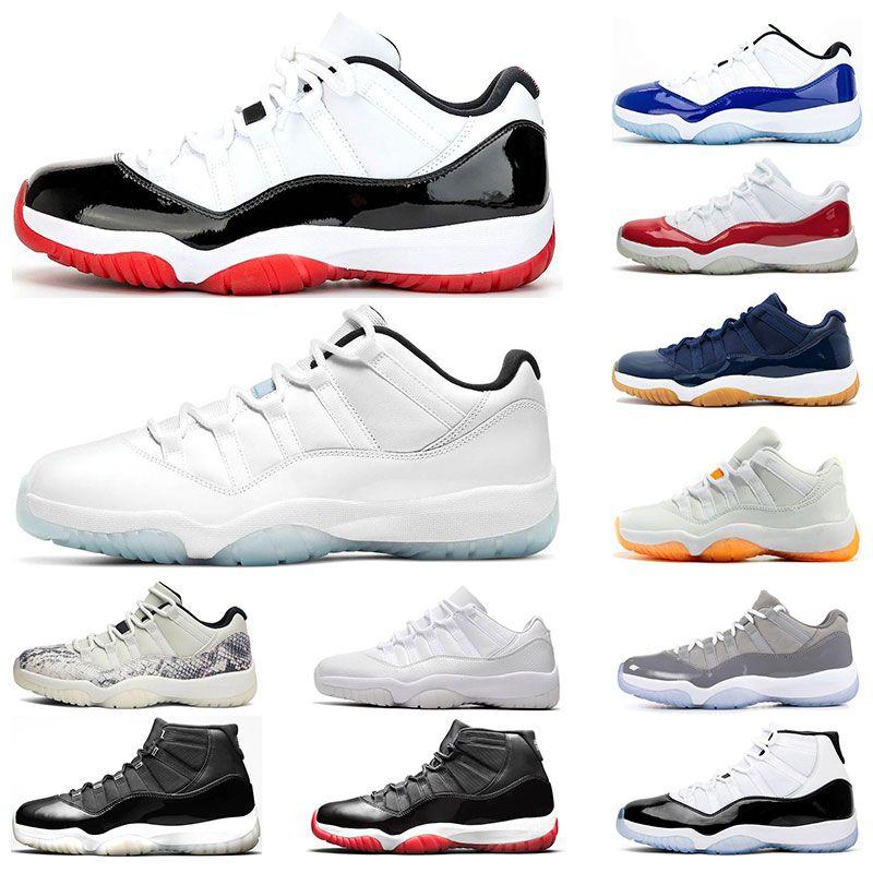 air retro jordan 11 남성 농구 신발 11S 흰색 사육 CONCORD 쿨 그레이 GAMMA 전설 BLUE 체리 UNC (11) 여자 스포츠 트레이너 야외 패션 운동화