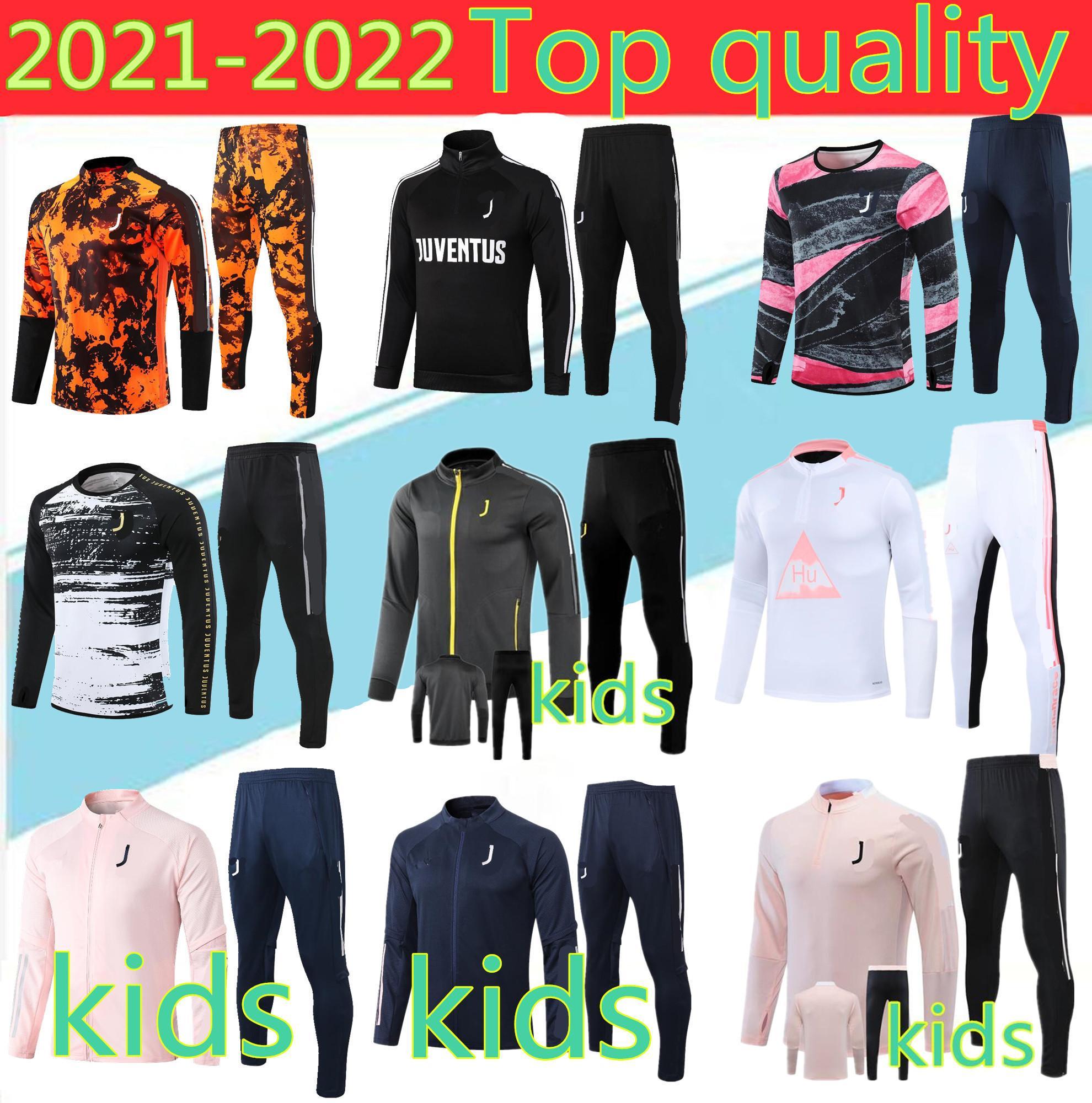 축구 Survêtement Jacket 2021DyBala 조끼 키트 juve survêtement 완료 De Veste de Football à Glissière enfants