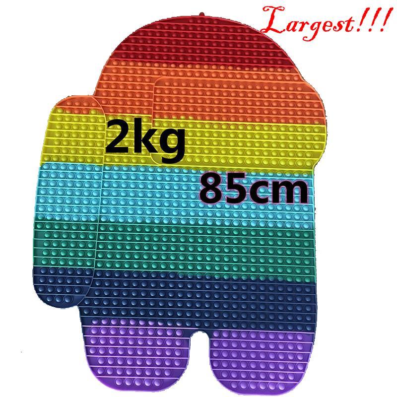 85CM Rainbow Sensory Bubbles Pits Board Push Pop Fidget Toys Party favor Mega Jumbo Huge Size Unicron Butterfly Ice Cream Poo-its Puzzle