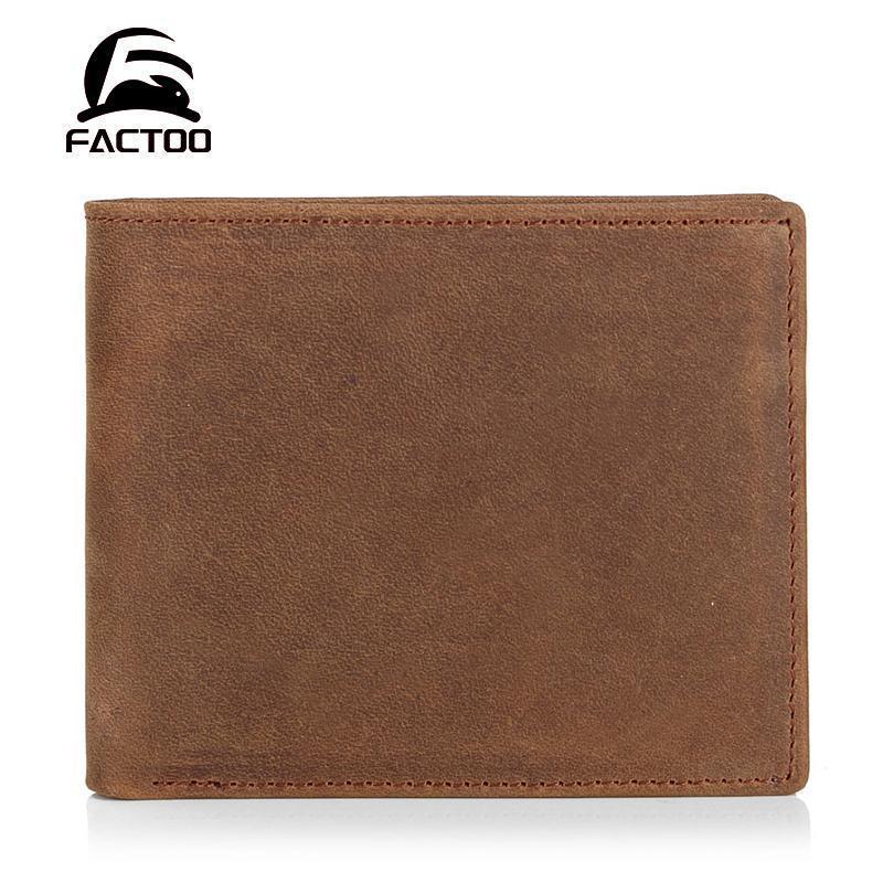 -Selinha de couro curta carteira masculina mudança de cartão de mudança de cartão retro moda louca cavalo homem bolso carteiras