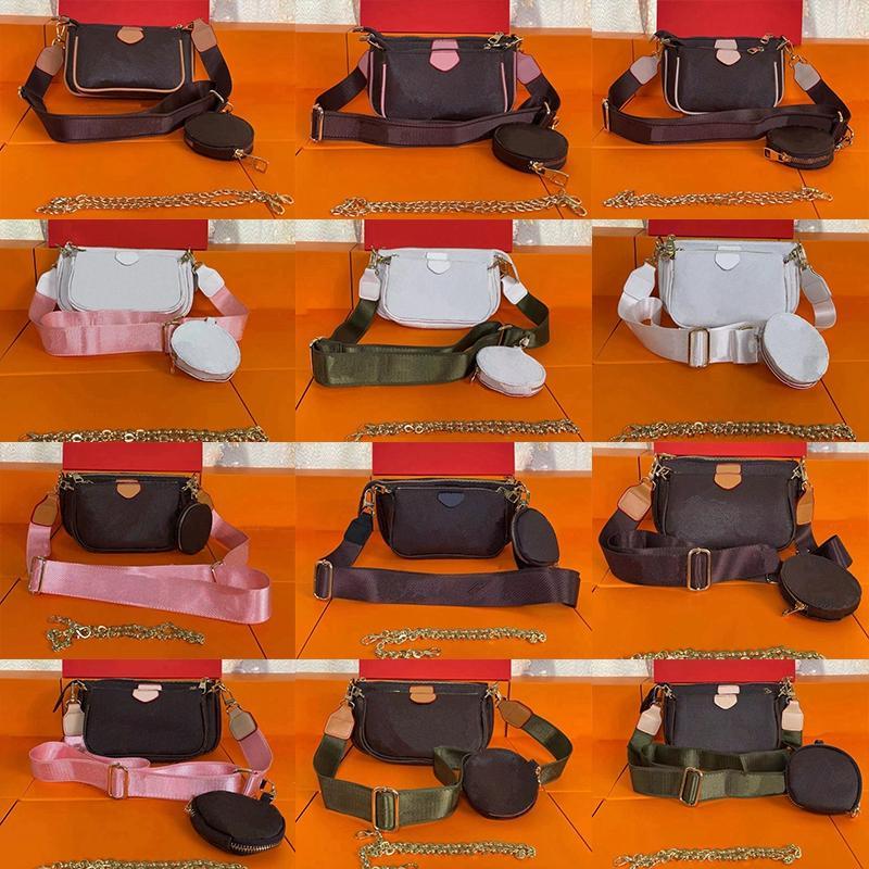 2021 العلامة التجارية مصمم حقائب الكتف متعددة pochette accessoires المحافظ النساء الأزياء الفاخرة المفضلة ميني 3 قطع مجموعة مجمع حقيبة crossbody حقائب اليد