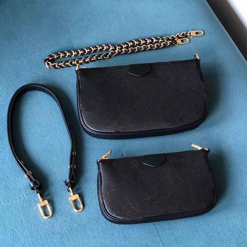 2021 المرأة مصمم حقيبة الكتف الفاخرة crossbody محفظة متعددة pochette اكسسوارات سيدة رسول حقائب القابض الذهبي سلسلة محفظة M45777 M80399