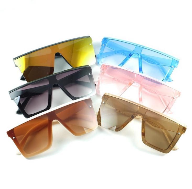 Kids 'Sunblock الأزياء ساحة الأطفال النظارات الشمسية الطفل المتضخم ظلال خمر الفضة مرآة أطفال نظارات الملحقات DB735