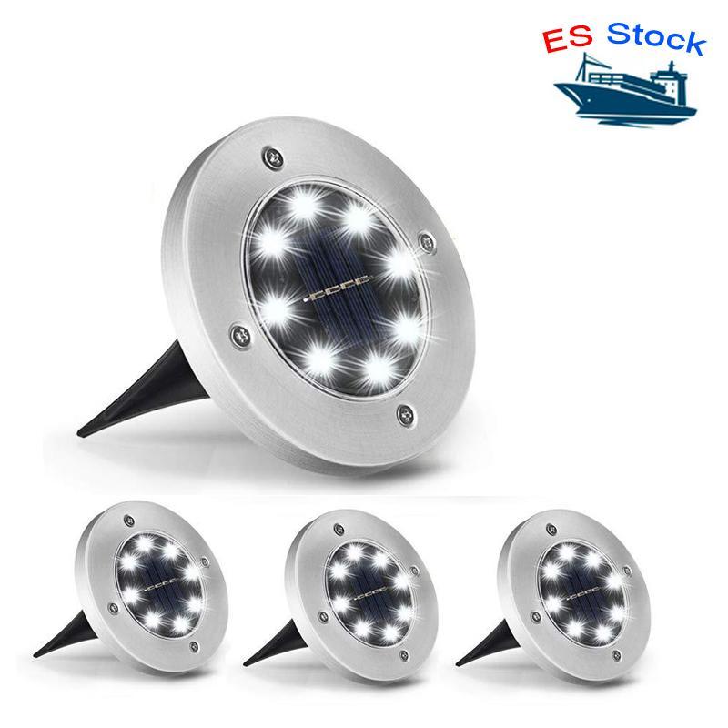 ES Stock (12 paquet) Éclairage extérieur Lampes de jardin Solar Lampes de pelouse 8 LED peut être une bonne décoration pour votre piscine de piscine de path-parcose de votre allée et ainsi de suite