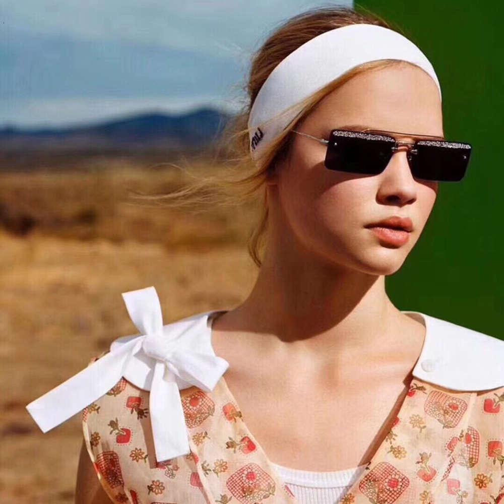 Современная умная личность солнцезащитные очки блестящие алмазные квадратные рамки солнцезащитные очки Trend мода шоу солнцезащитные очки
