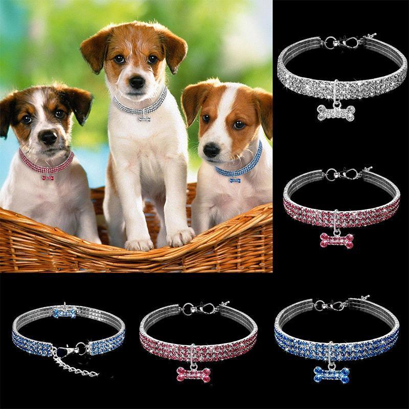 Hundekragen Leinen Kragen Zubehör Chihuahua liefert für kleine Hunde Haustiere Diamant Halskette