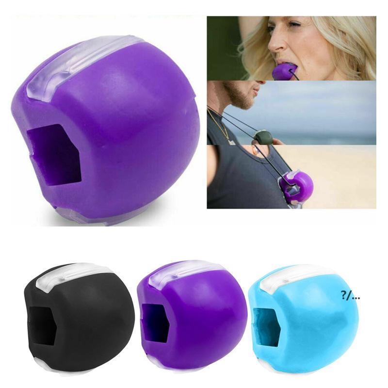 Silicone Jaw exercice balle de qualité alimentaire Gel de silice Jawline Formation musculaire Fitness Ballon de ballon Visage Tonifor Jawrsize Muscle Exerciseur EWC7270