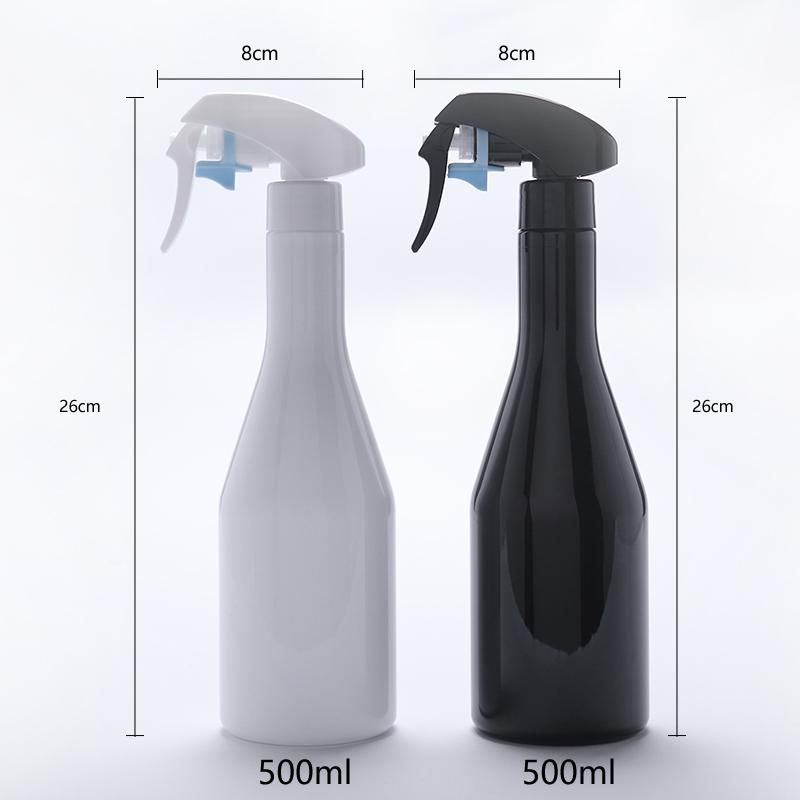 Spray bottle is suitable for disinfecting and cleaning liquid, hand holding type fog effect material PET
