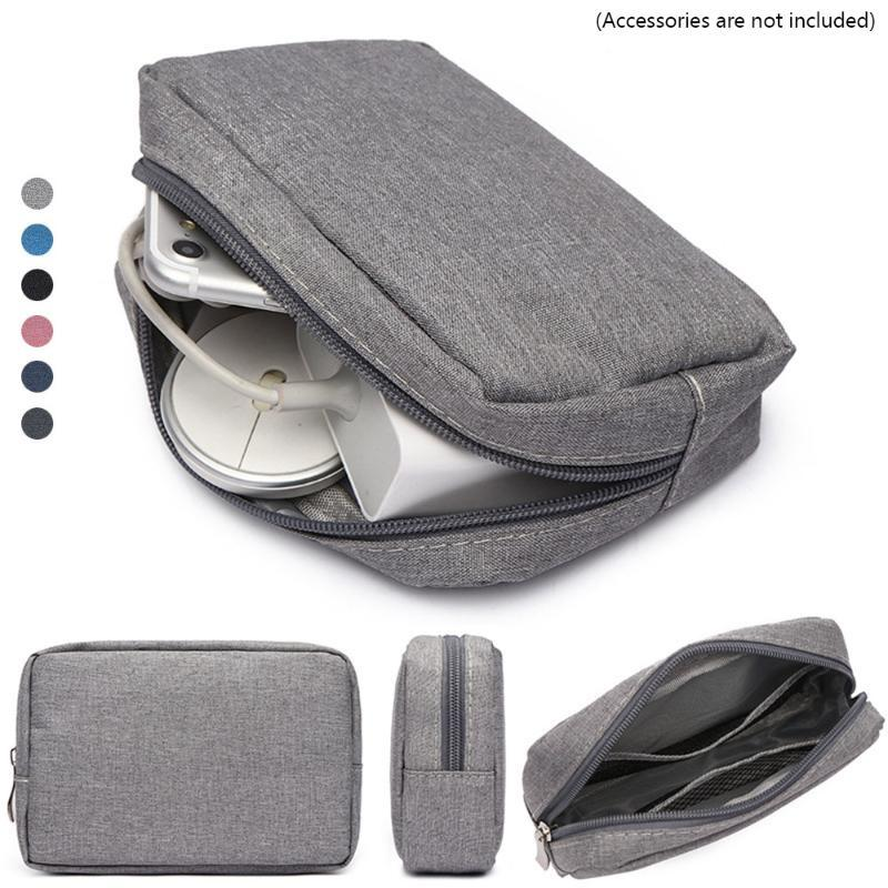 Storage Bags Portable USB Cable Bag Earphone Organizer Makeup Cover Travel Gadget Devices Pouch Digital Accessories